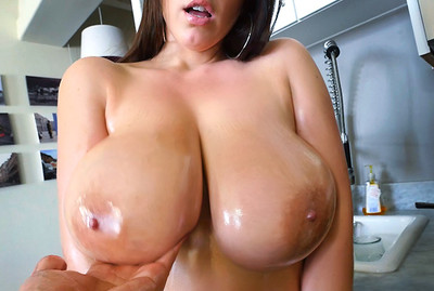 Angela White's 32 double g tits are breathtaking
