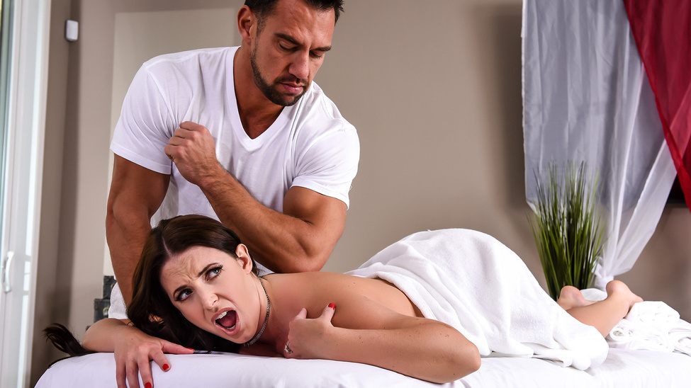 Angela White in The Wrong Massage Feels So Right