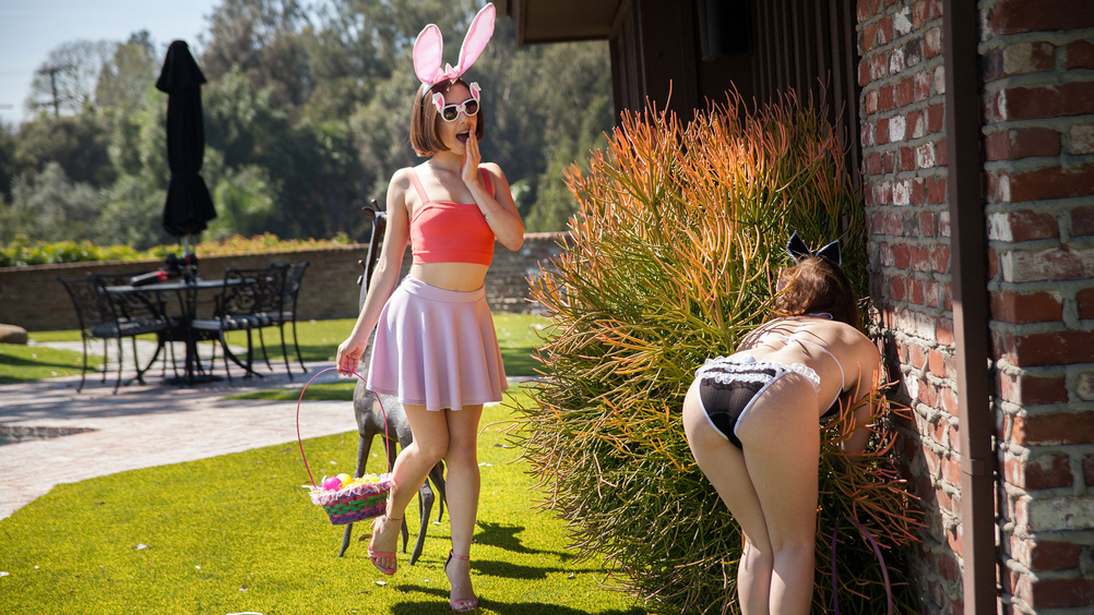 Jenna Sativa and Misty Lovelace in Easter Egg Cunt