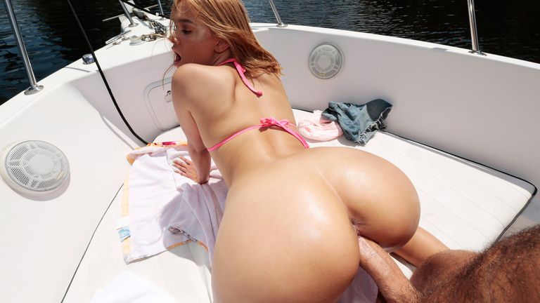 Kendall Kross in Boat Bae