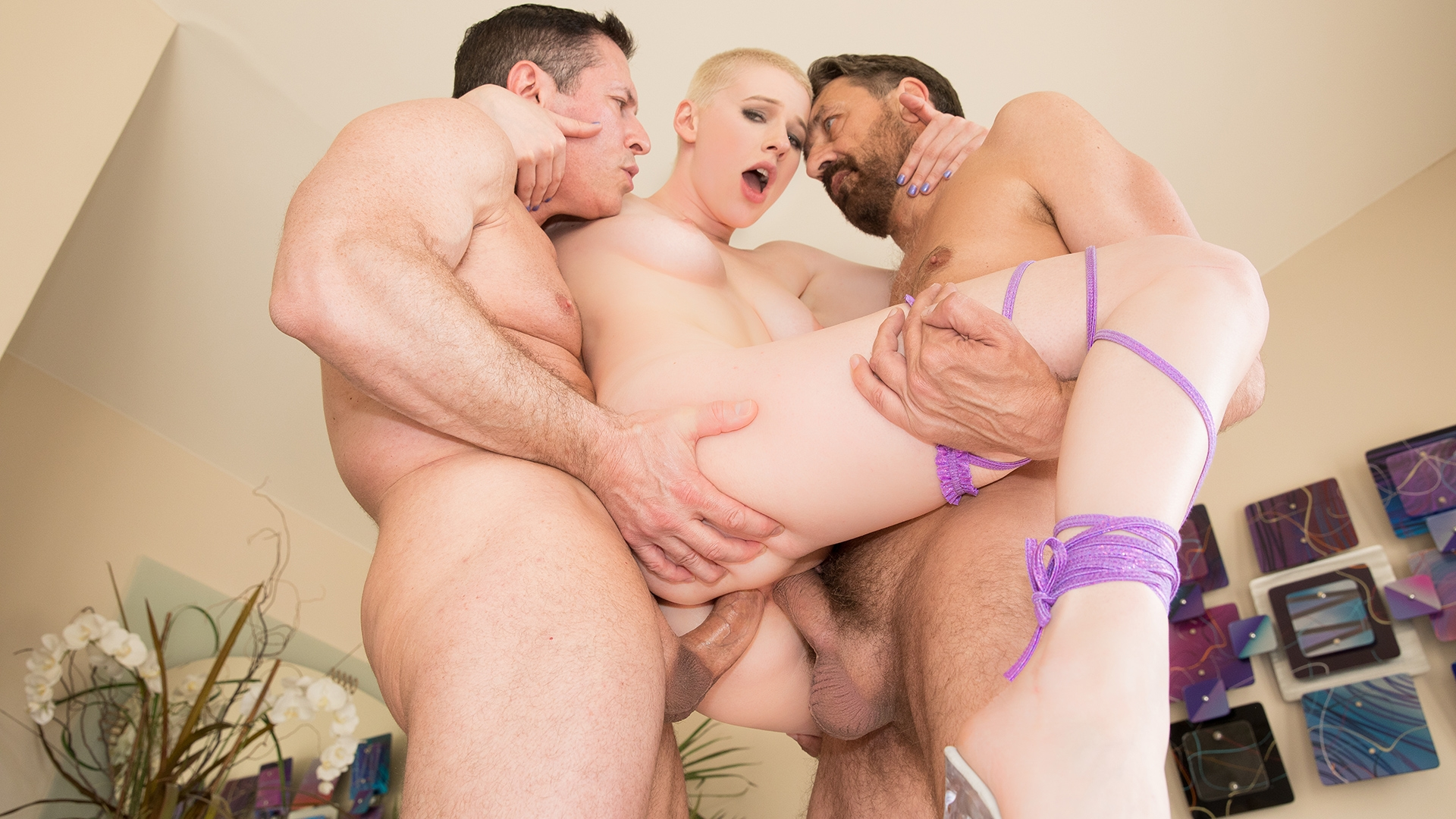 Riley Nixon in Riley Nixon Is Double Teamed & Double Stuffed For Her FIRST DP