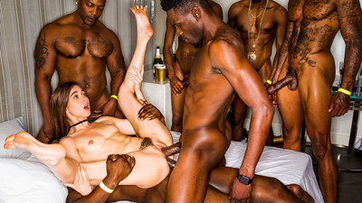Girlfriend Gangbang At The After Party