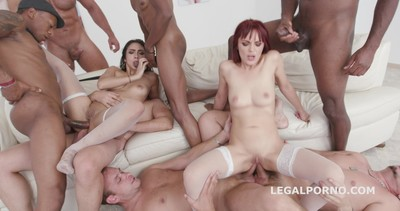 Lilly Hall Vs Dominica Phoenix #2 Balls Deep anal, 7on2 Dap, ATOGM, Gapes, Multiple Swallow GIO774