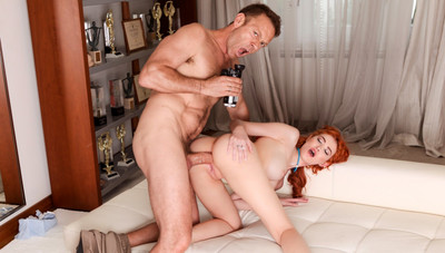 Redhead's Big Cock Anal/A2M Audition