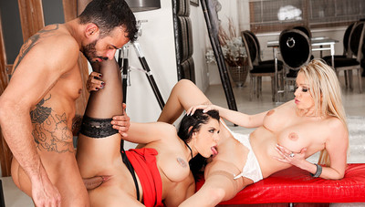 2 Threesomes: Anal, DP, Bi Girls, More