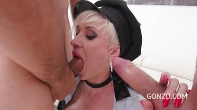 Tanya Virago hot MILF assfucked with balls deep DP & piss drinking SZ2224